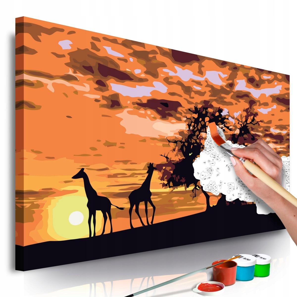 Obraz do samodzielnego malowania - Na sawannie (ży