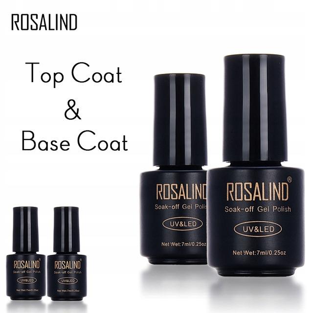 ZESTAW BASE COAT + TOP COAT # BAZA TOP # ROSALIND