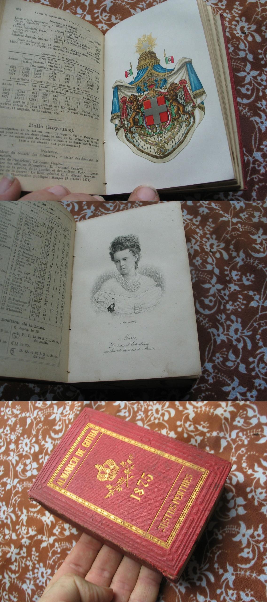 ALMANACH GOTHA genealogia ARYSTOKRAC 5 plansz 1875