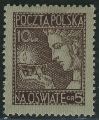 Poczta Polska 10 + 5 groszy - Na Oświatę