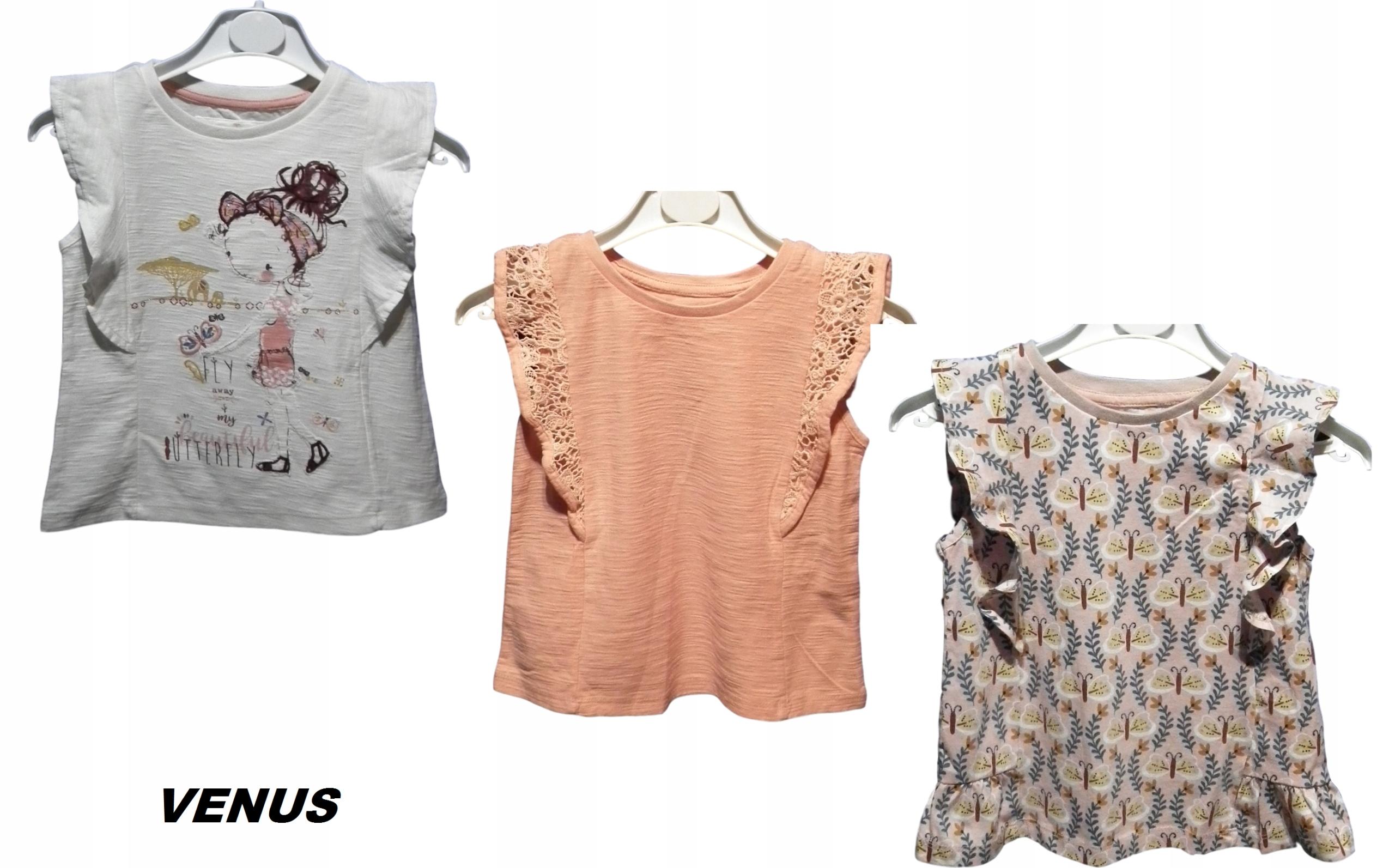 TU NOWE bluzki, T-shirty, koszulki 3-pak r 86-92