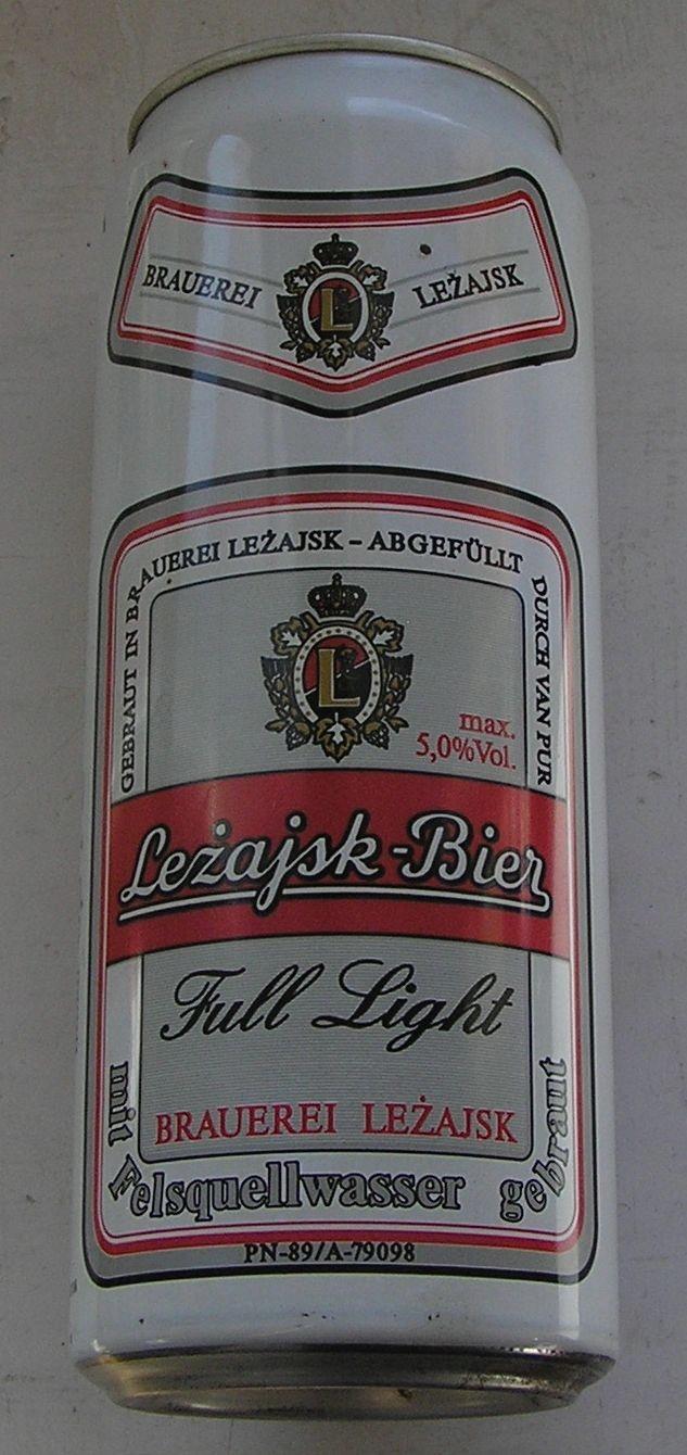 PUSZKA PIWO LEŻAJSK-BIER FULL LIGHT 1992 2