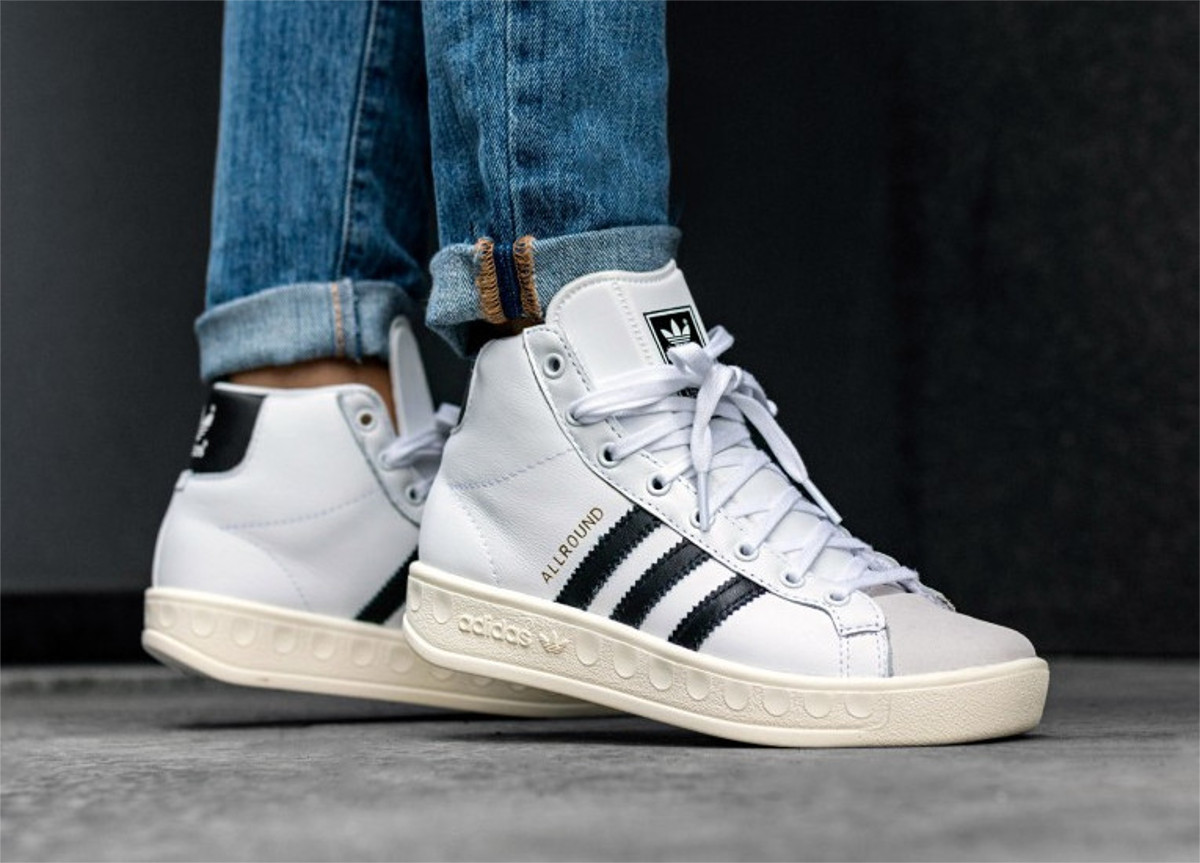 outlet presenting shoes for cheap ADIDAS ORIGINALS ALLROUND OG HIGH TOP WHITE r 39 ...