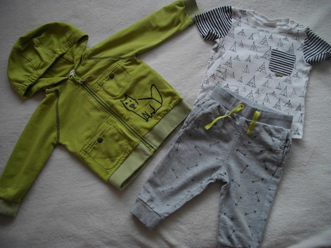 Coccodrillo 80 3cz komplet bluza spodnie koszulka