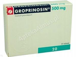 Groprinosin 500 mg 20 tabletek