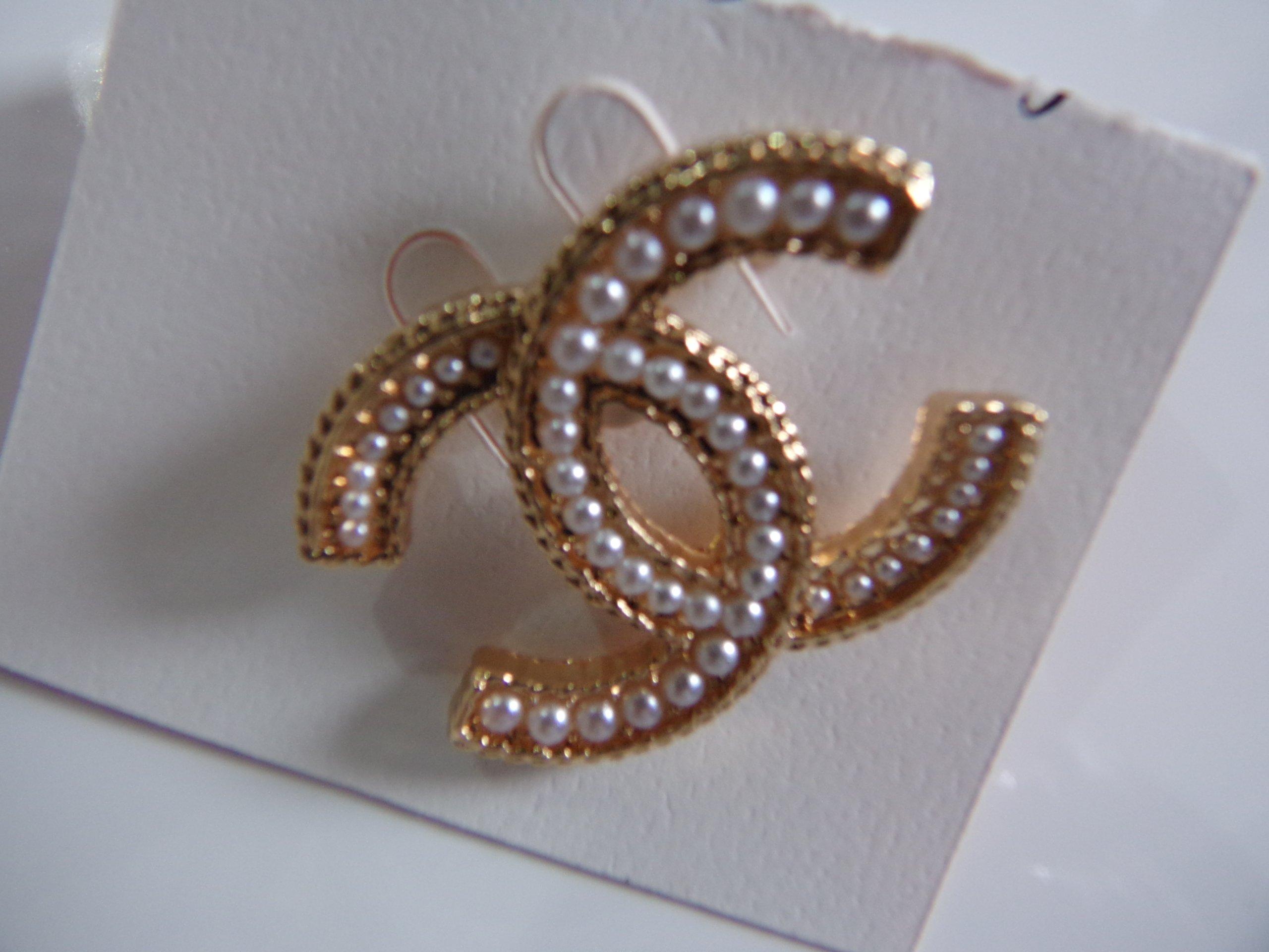 f4f3b28a0ea2d CHANEL broszka złota kamienie cyrkonie okazja - 7412390383 ...