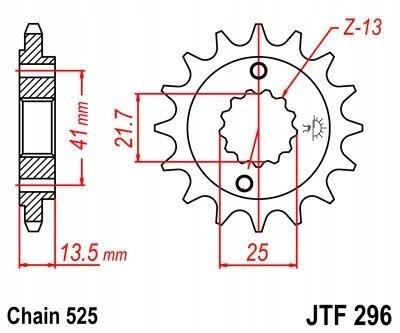 JT ZĘBATKA PRZEDNIA 346 16 HONDA VT 600C SHADOW 90