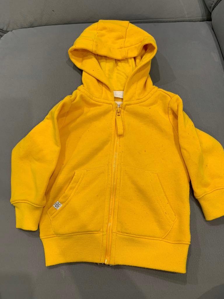 Bluza z kapturem Reserved żółta 74