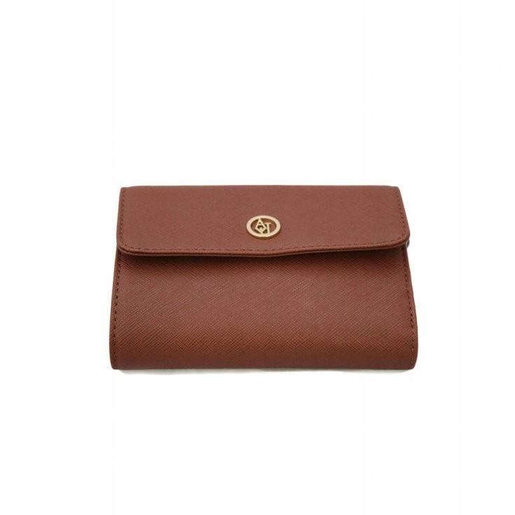 Armani Jeans portfel damski brązowy krótki