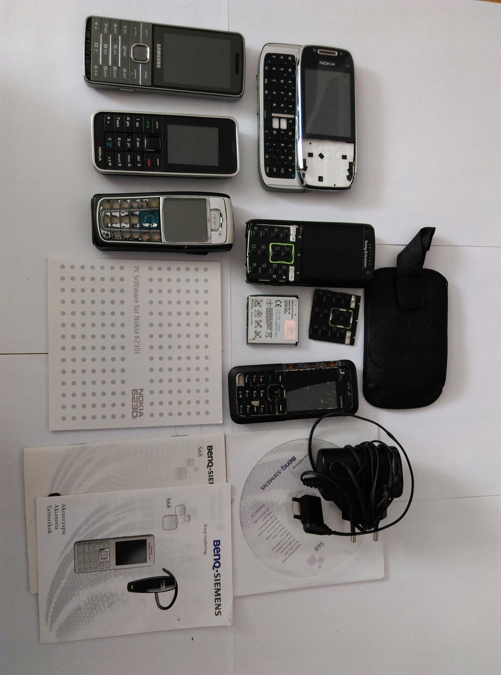 Zestaw telefonów, części,złom