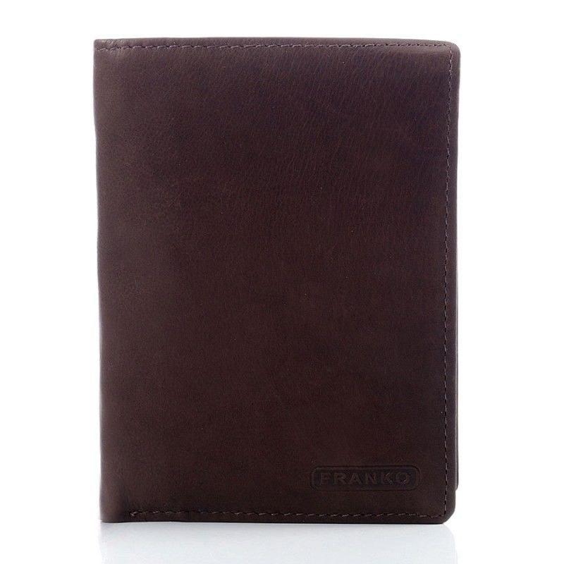 fa6a21d9677f4 Skórzany elegancki portfel męski Franko Koniakowy - 7061536148 ...