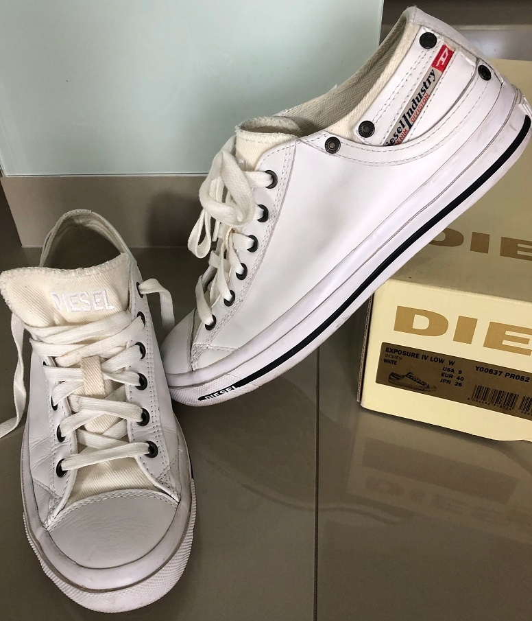 Oryginalne Buty tenisówki trampki skóra Diesel 40