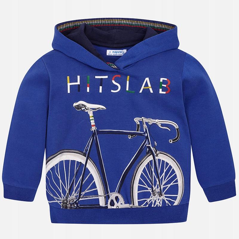 Bluza Mayoral niebieska 4434 110 cm rower napis