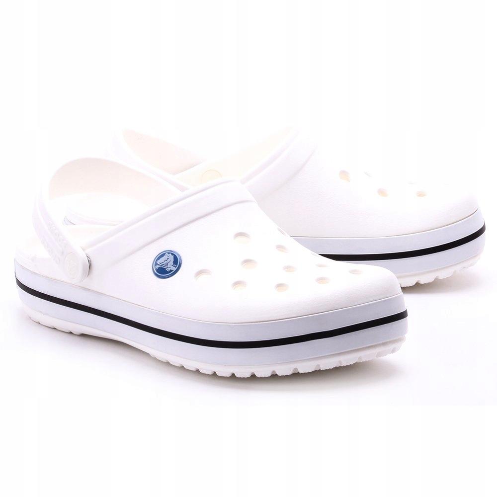 Klapki Crocs Crocband Chodaki Białe White 41-42 M8