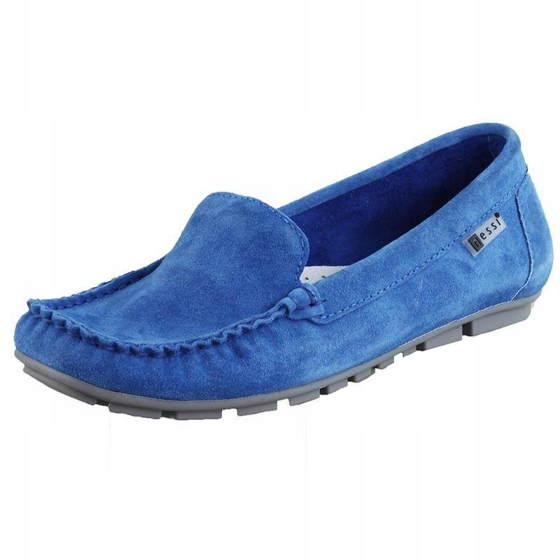 Niebieskie Mokasyny damskie Nessi 17130 R.38