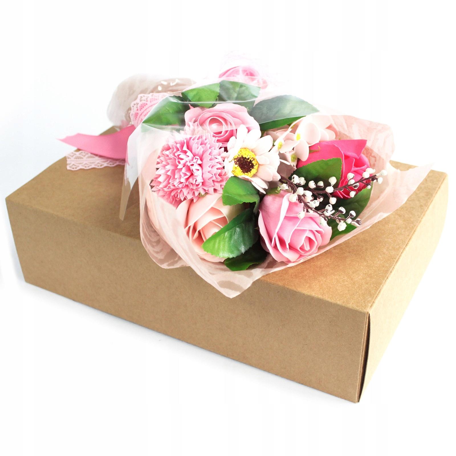 Mydlany Bukiet Kwiatowy Różowe Róże