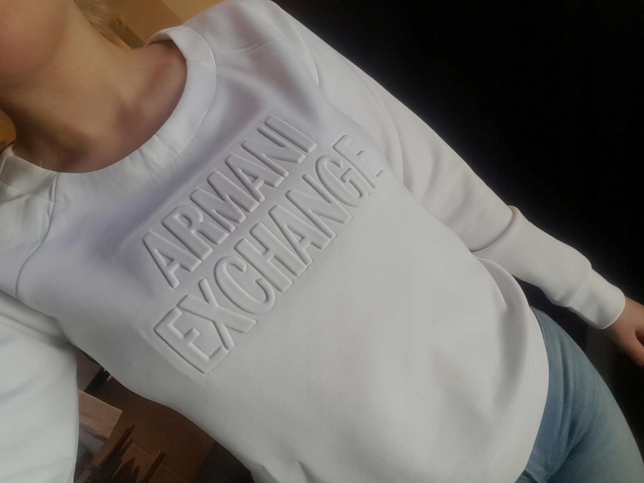 Armani Exchange S bluza damska było 399zł Lato2019