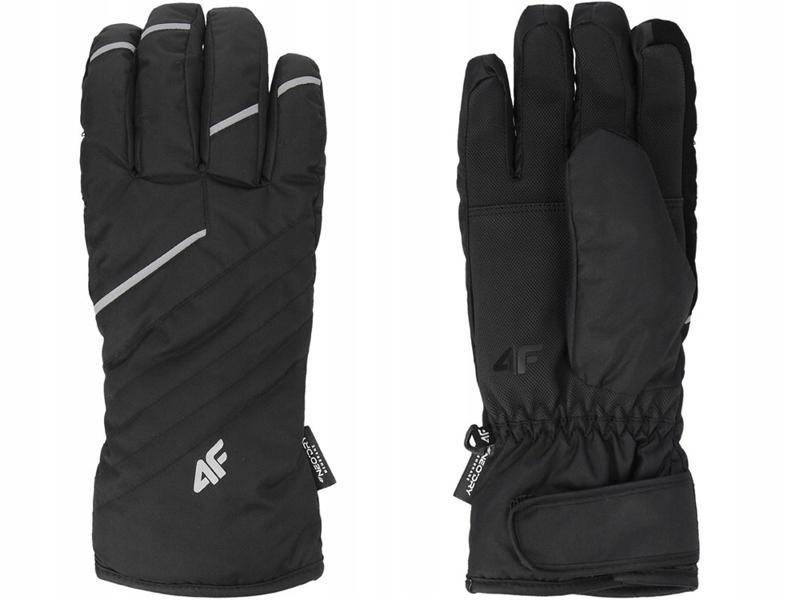 Rękawice narciarskie męskie REM003 4F czarne XL