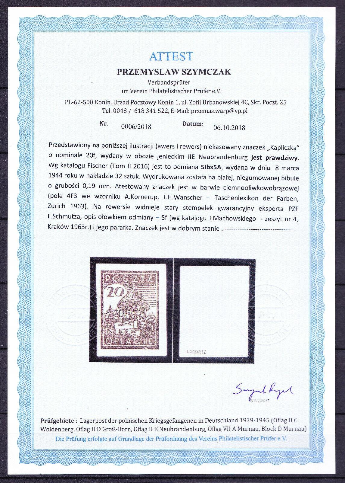 NEUBRANDENBURG Fi 5Ibx5 atest katalog 4500