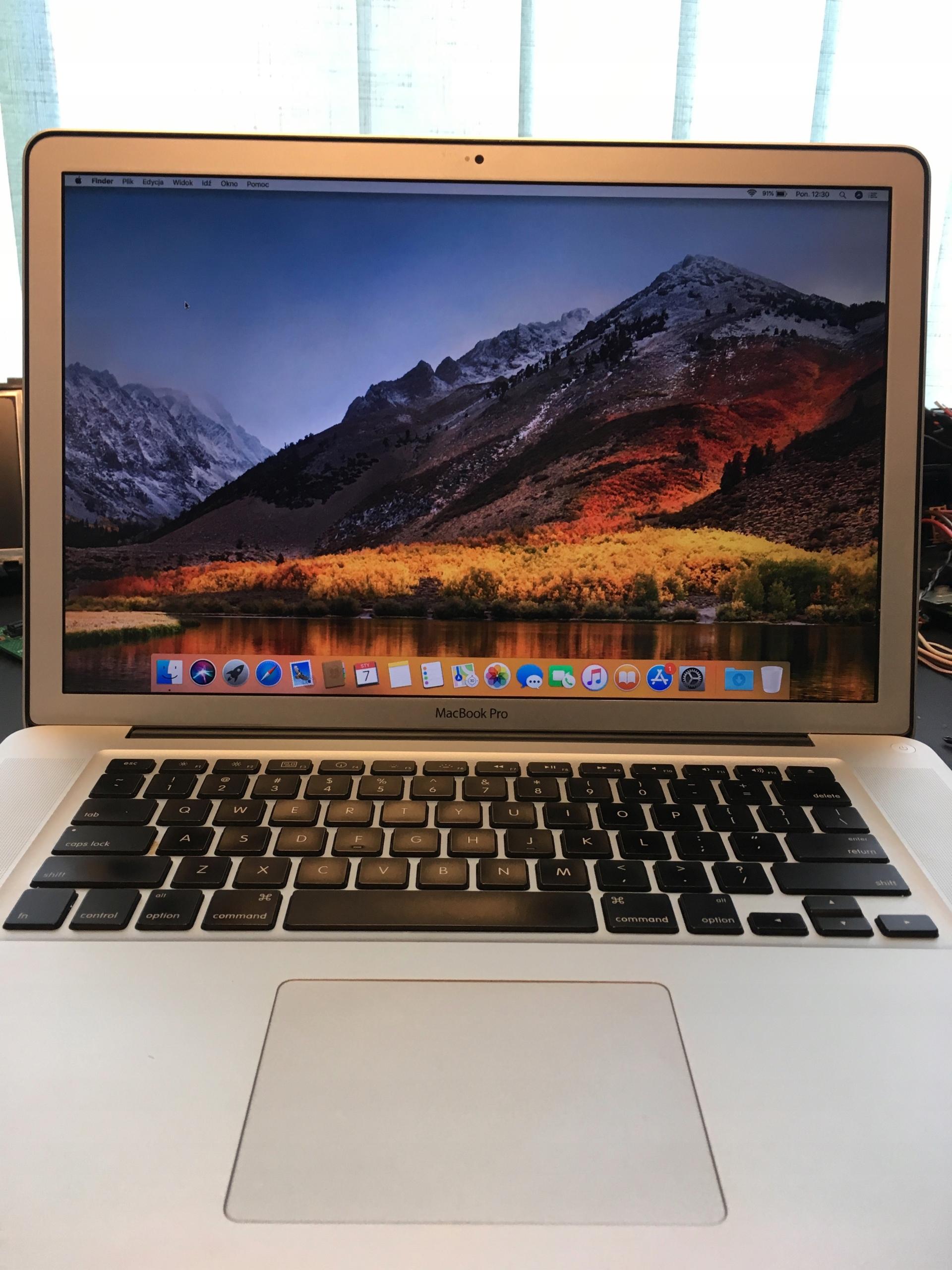 Laptop MacBook Pro 15 MID 2010 8GB RAM Dysk SSD i5