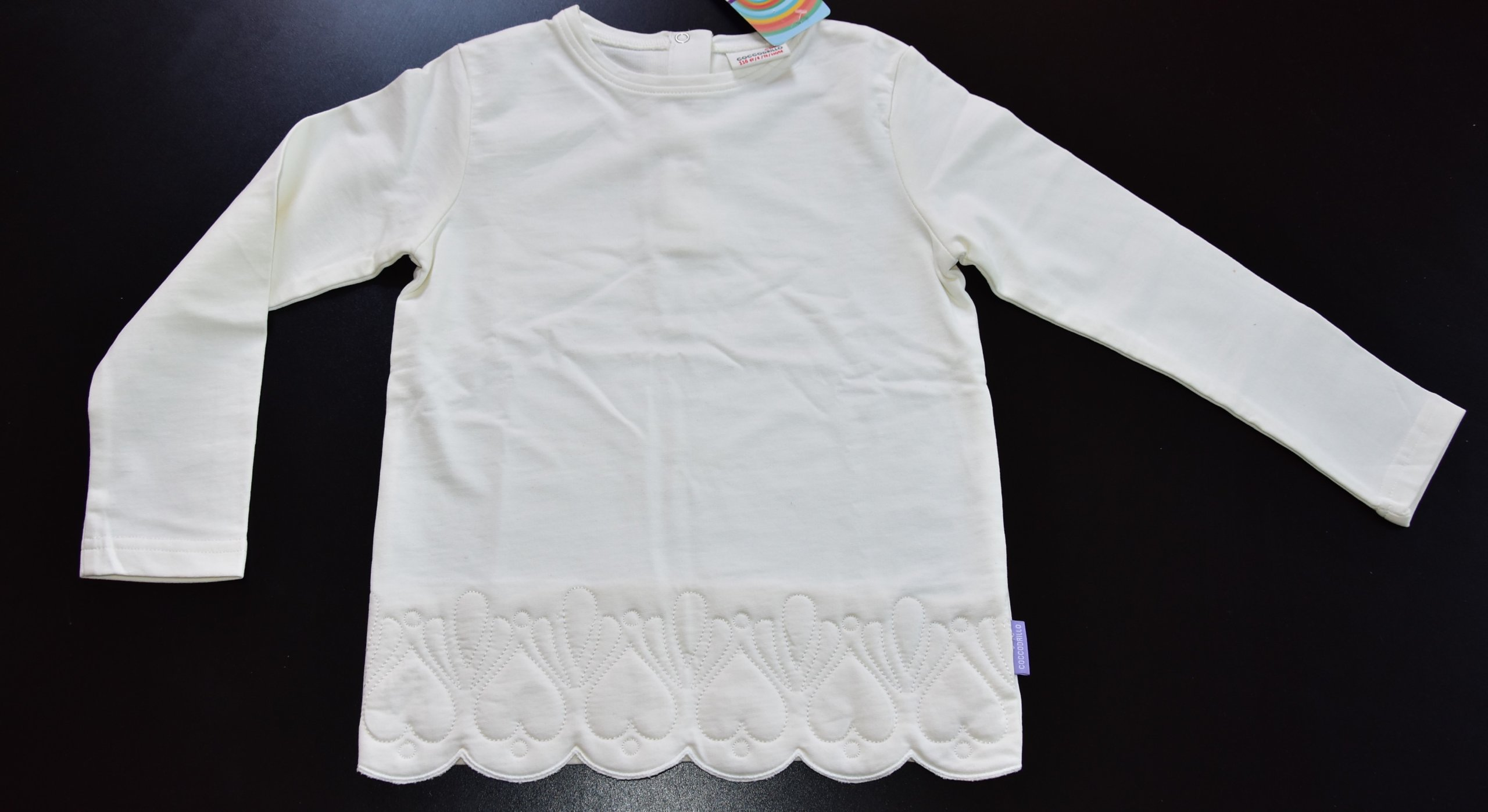 kremowa elegancka bluza Coccodrillo 116