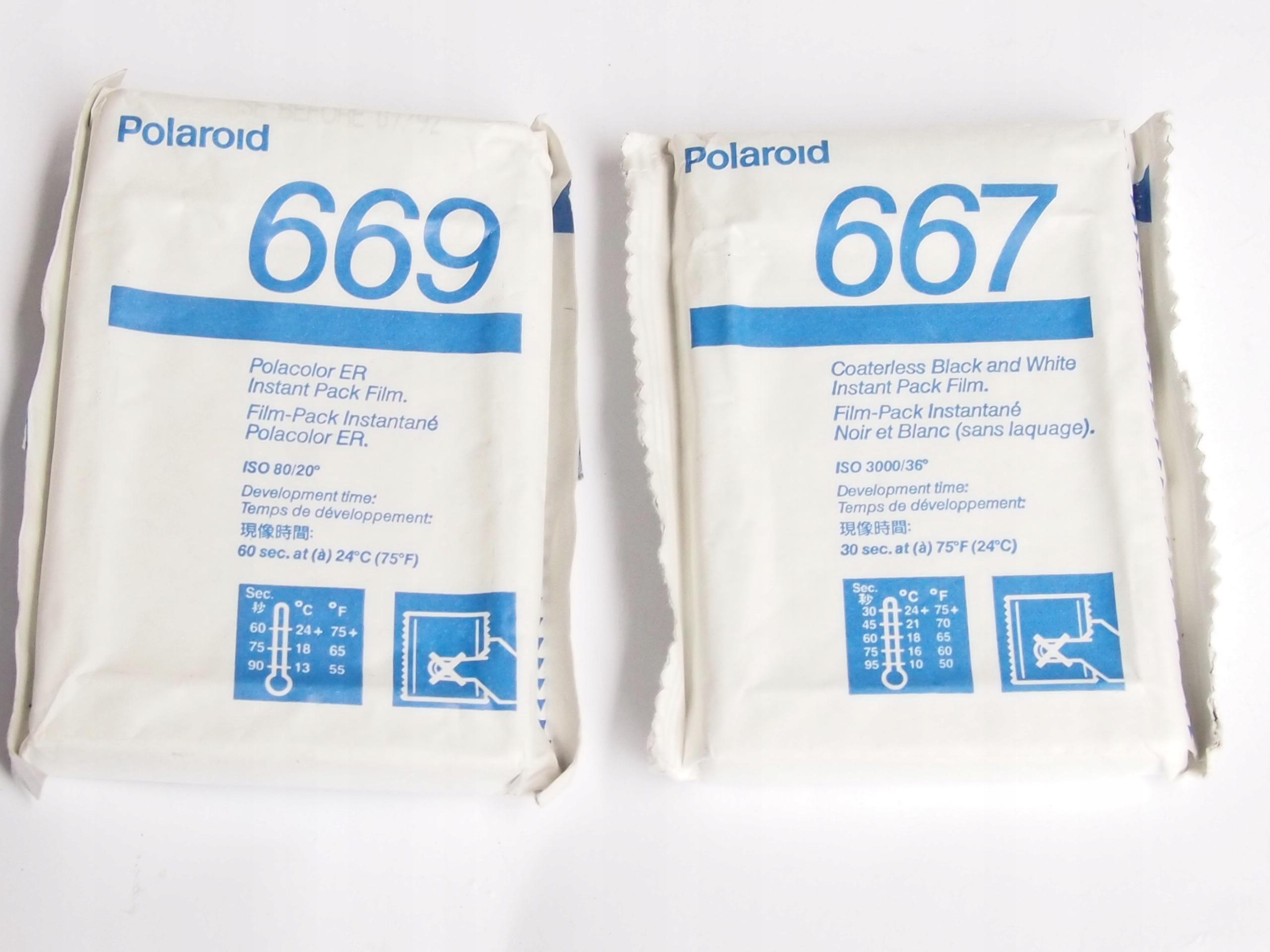 Polaroid film 669 i 667 vintage wkłady