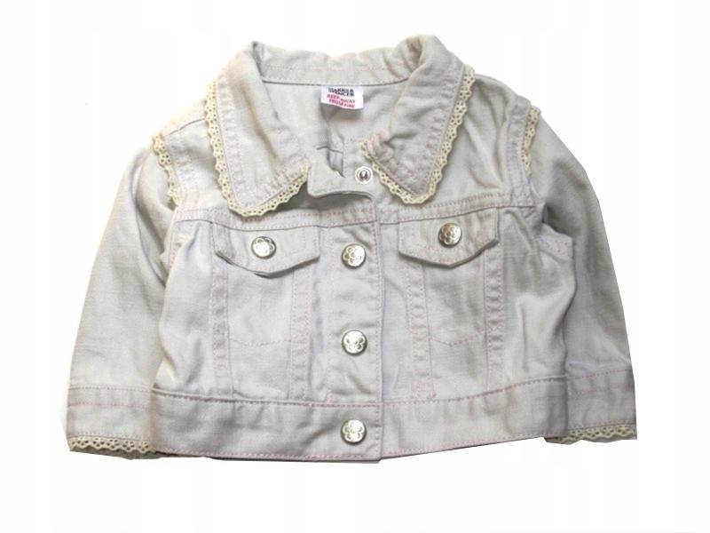 MS kremowa jeansowa kurtka kurteczka koronki 56/62