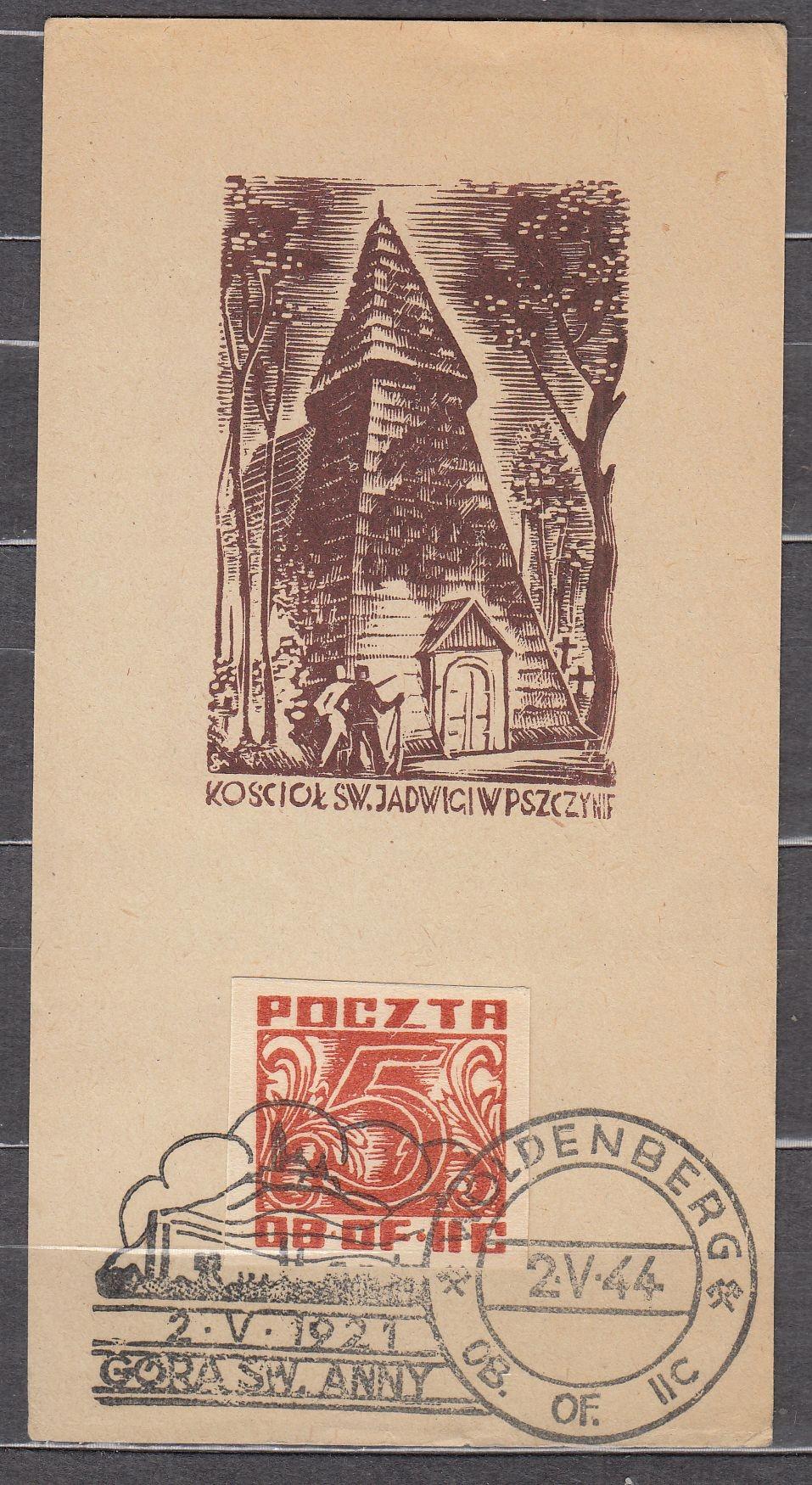 Woldenberg Pocztówka Fi 36 1944 W1