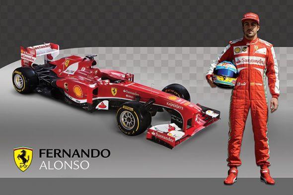 Ferrari (Alonso and Car) - plakat