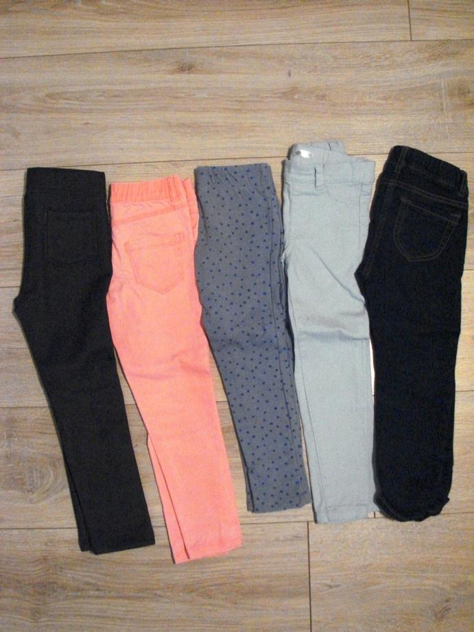 Zestaw spodni 104 5par jeasny treginsy