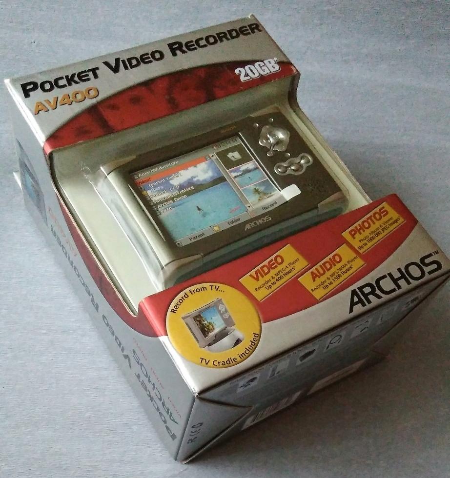 RARYTAS MINI VIDEO AUDIO RECORDER ARCHOS 20GB MP3