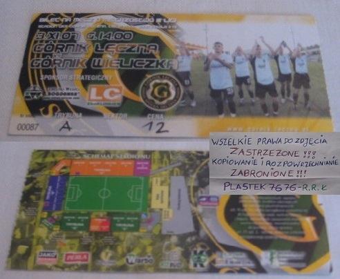 GÓRNIK ŁĘCZNA - GÓRNIK WIELICZKA - 3.XI.2007 ROK
