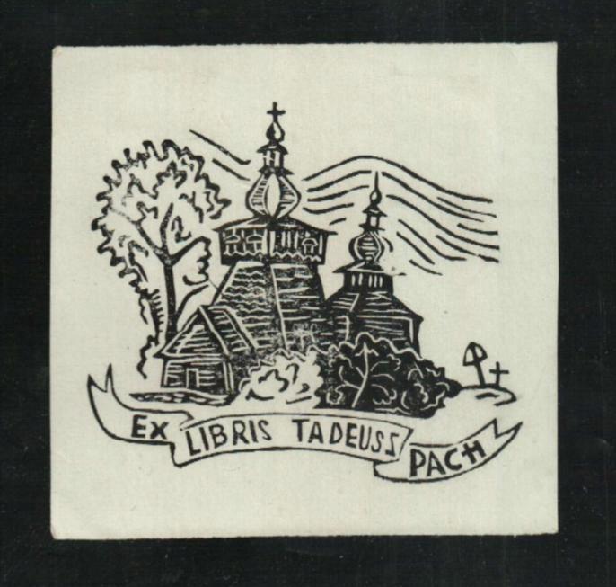 Ekslibris Tadeusz Pach - kościół - R.Bandosz