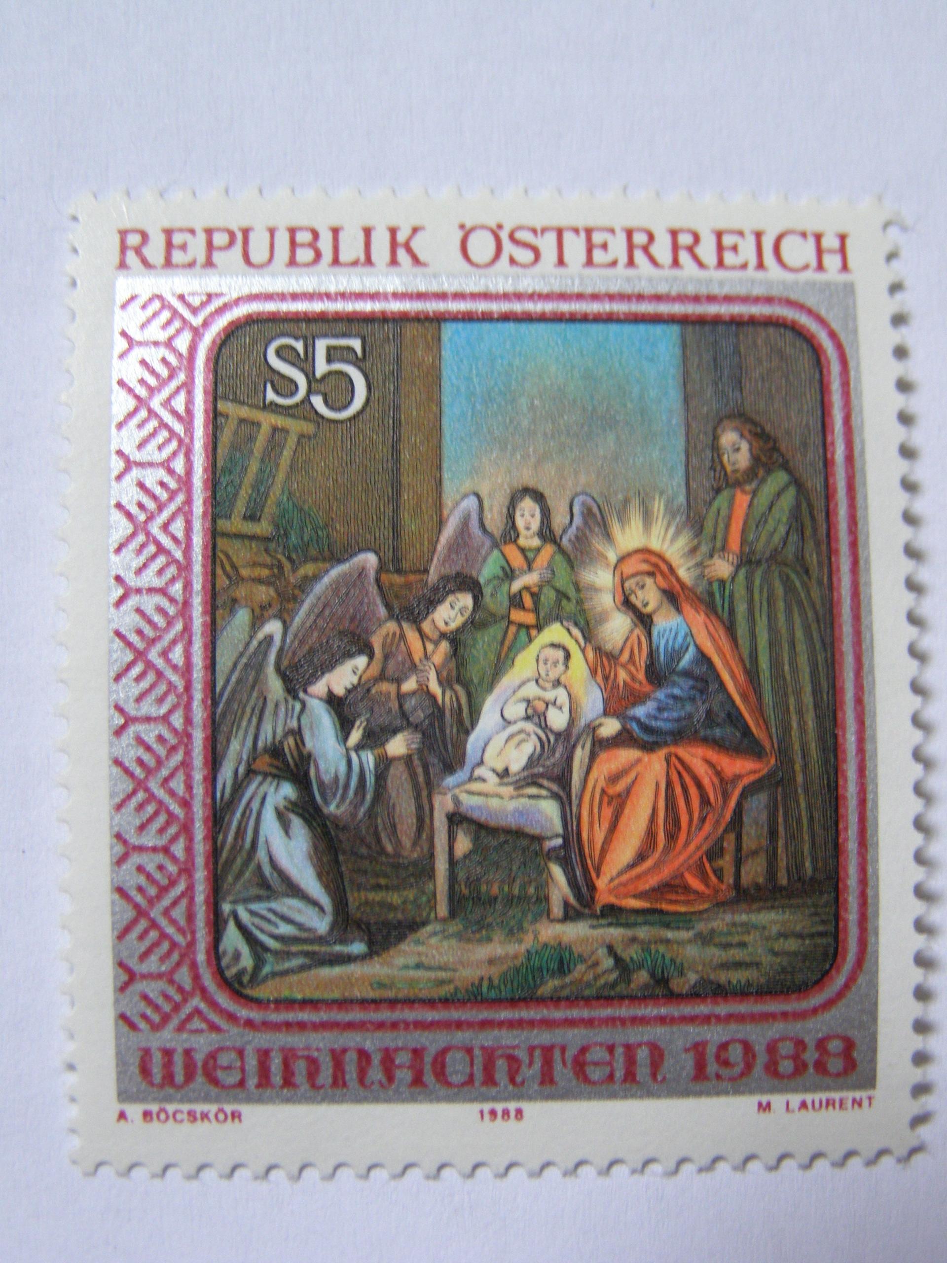 Austria - Boże Narodzenie 1988 - Mi. 1943 **