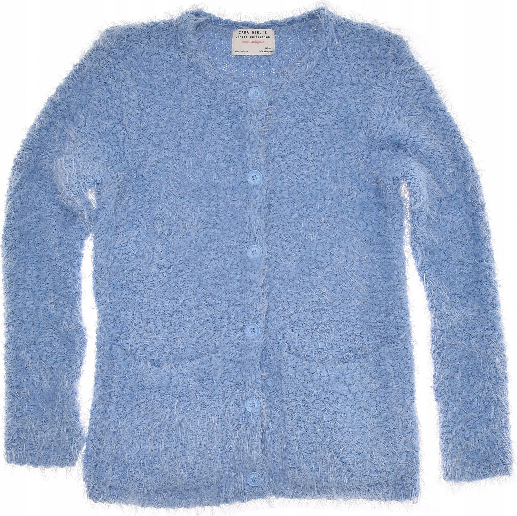 ZARA sweterek dziewczęcy na guziki Ciepły 140