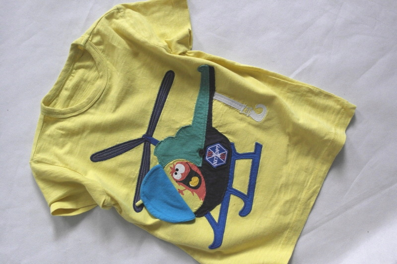 NEXT cytrynowy t-shirt helikopter 104