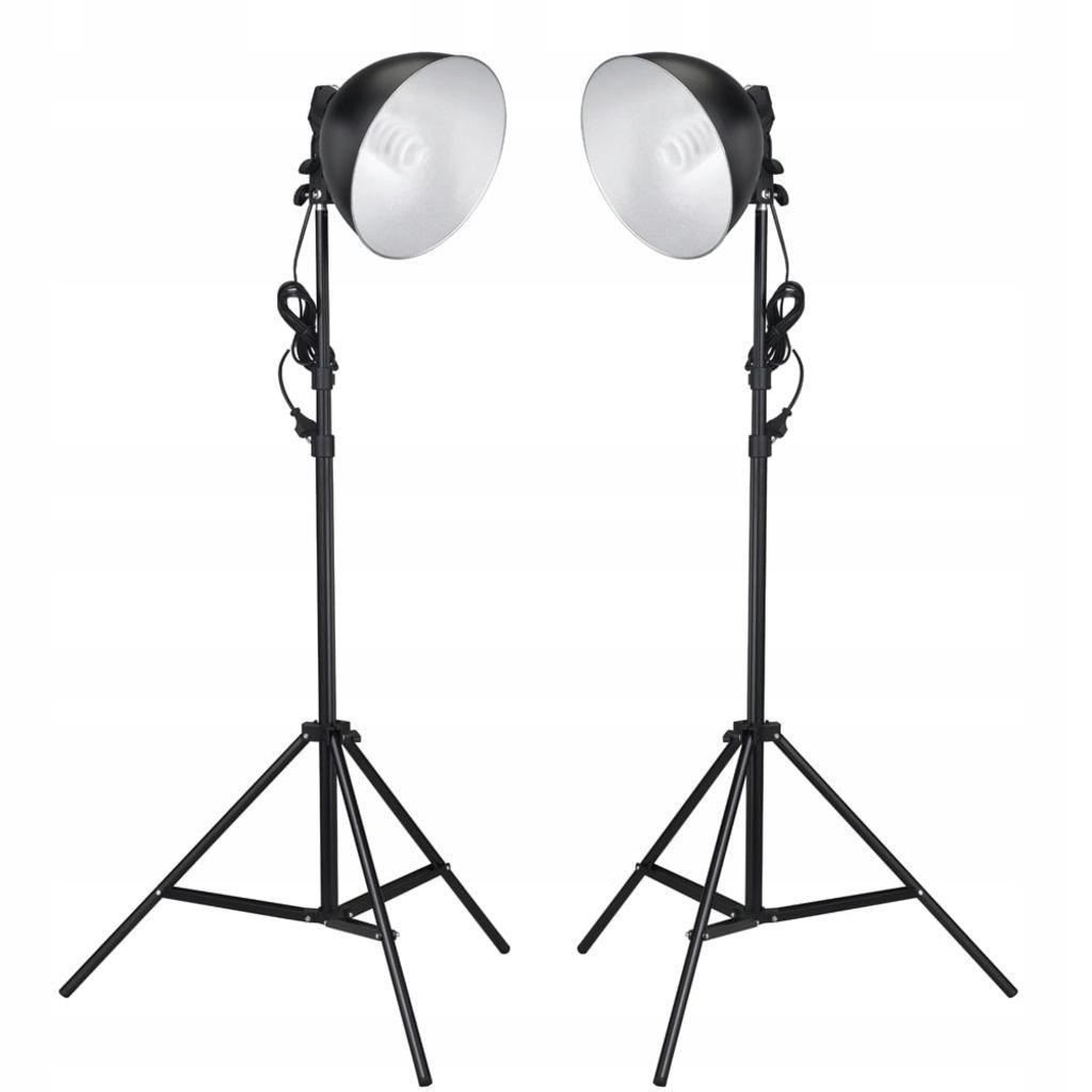 Lampy studyjne z kloszem odbijającym i statywem, 2