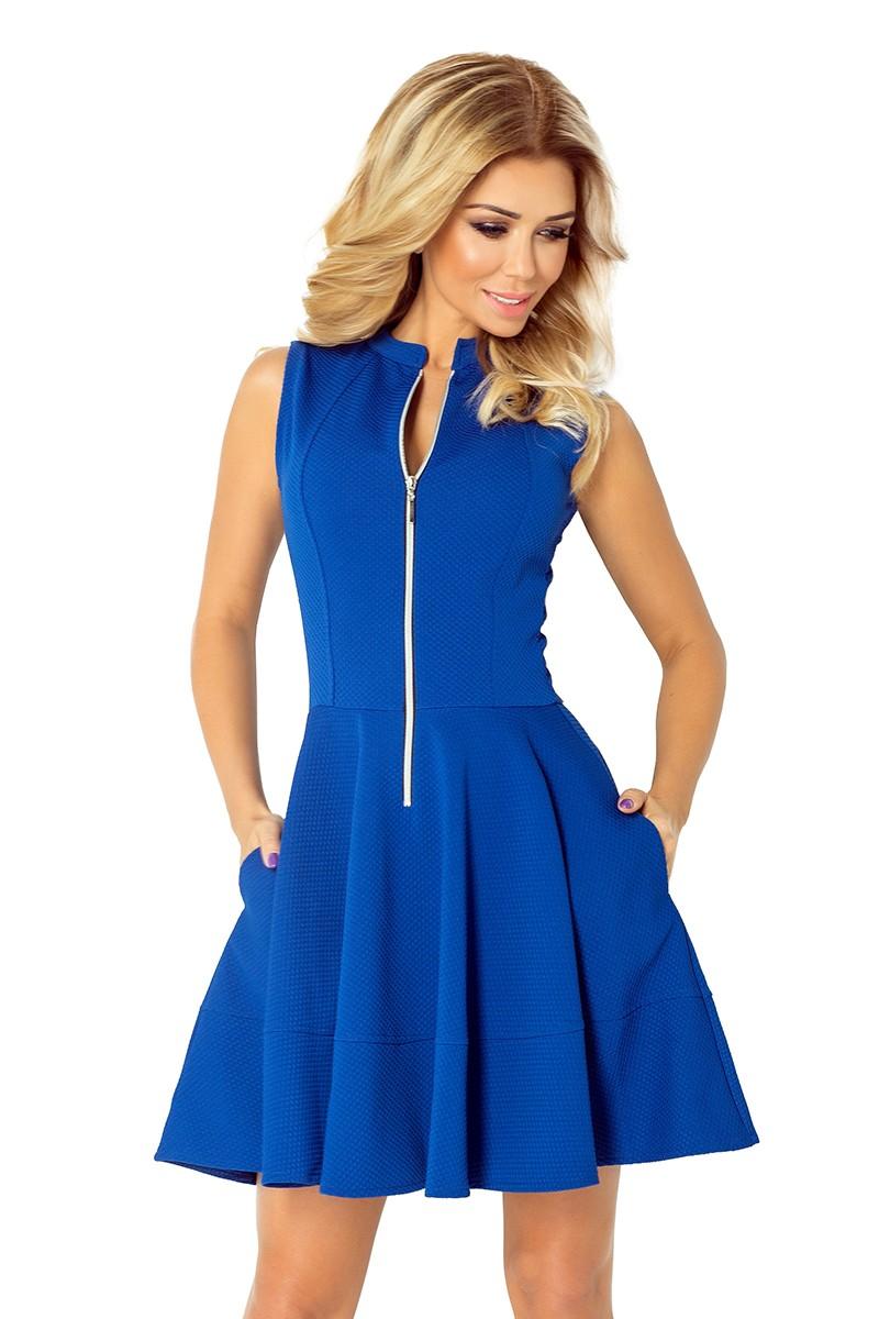 46fd740851 Sukienka z zamkiem z przodu i kieszeniami - Chaber - 7136932767 - oficjalne  archiwum allegro
