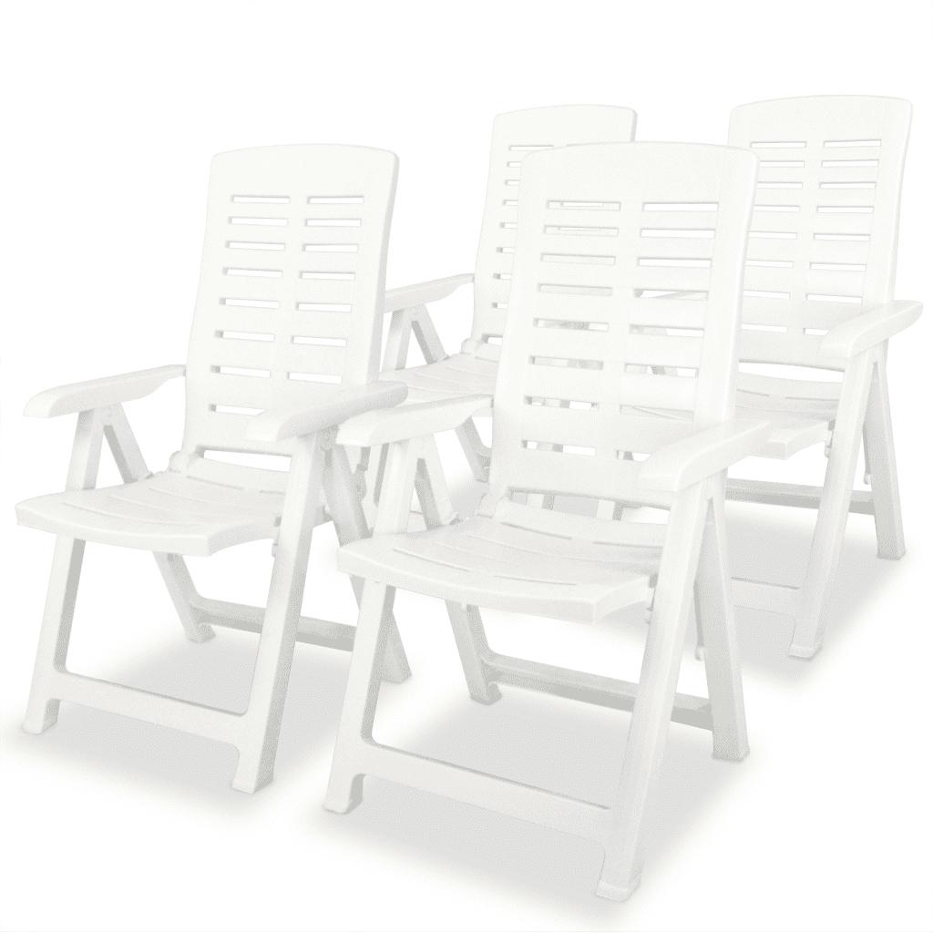 275067 vidaXL Krzesła ogrodowe rozkładane, 4 szt