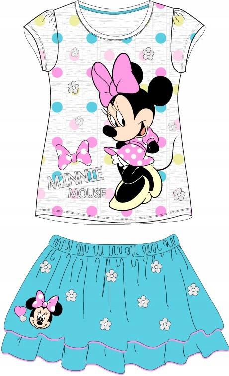 Komplet Minnie bluzeczka i sukienka NIEBIESKA 122