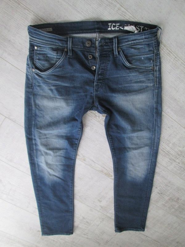 JACK JONES__przecierane męskie rurki jeans__W32L30