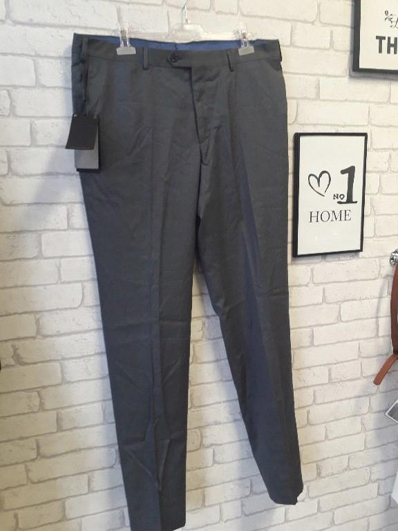 Massimo Dutti spodnie w kant szare 46