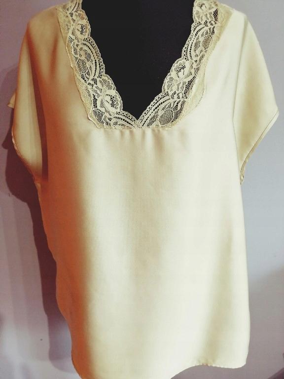 Modna elegancka bluzka NEXT koronka oliwkowa_44