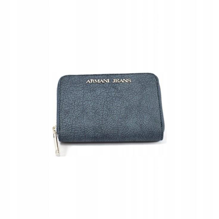 Armani Jeans niebieski portfel damski skórzany