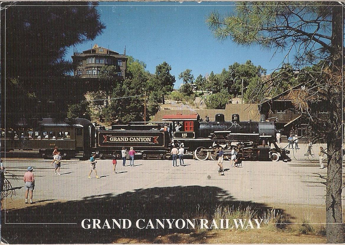 pocztówka GRAND CANYON RAILWAY Stary pociąg USA