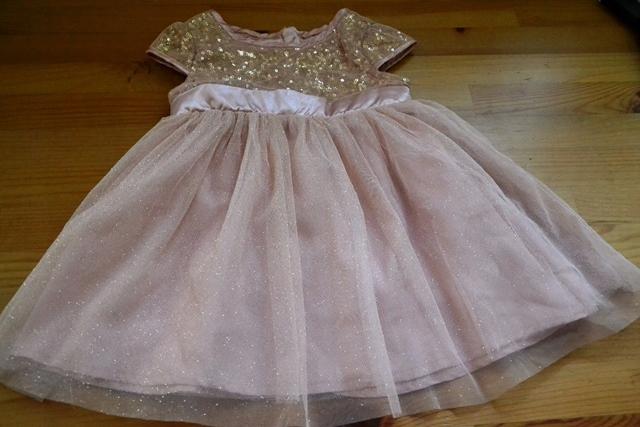 Cool Club Sukienka święta cekiny tiul brokat r.80