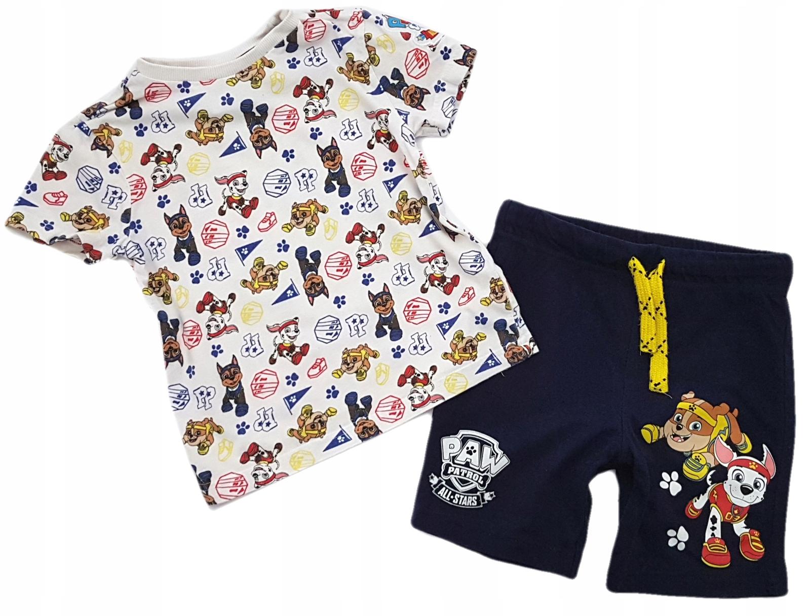 F&F*Komplet Psi Patrol-bluzka+kr.spodnie*104