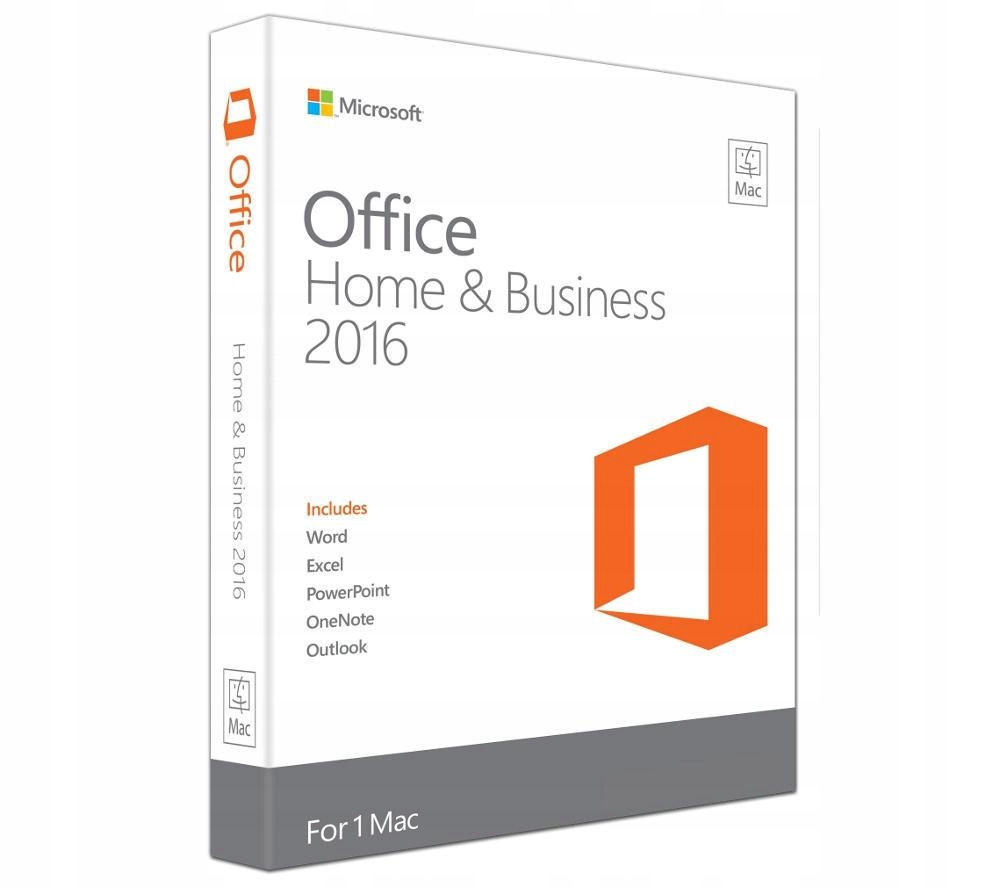 Office 2016 Home and Business dla MAC Klucz