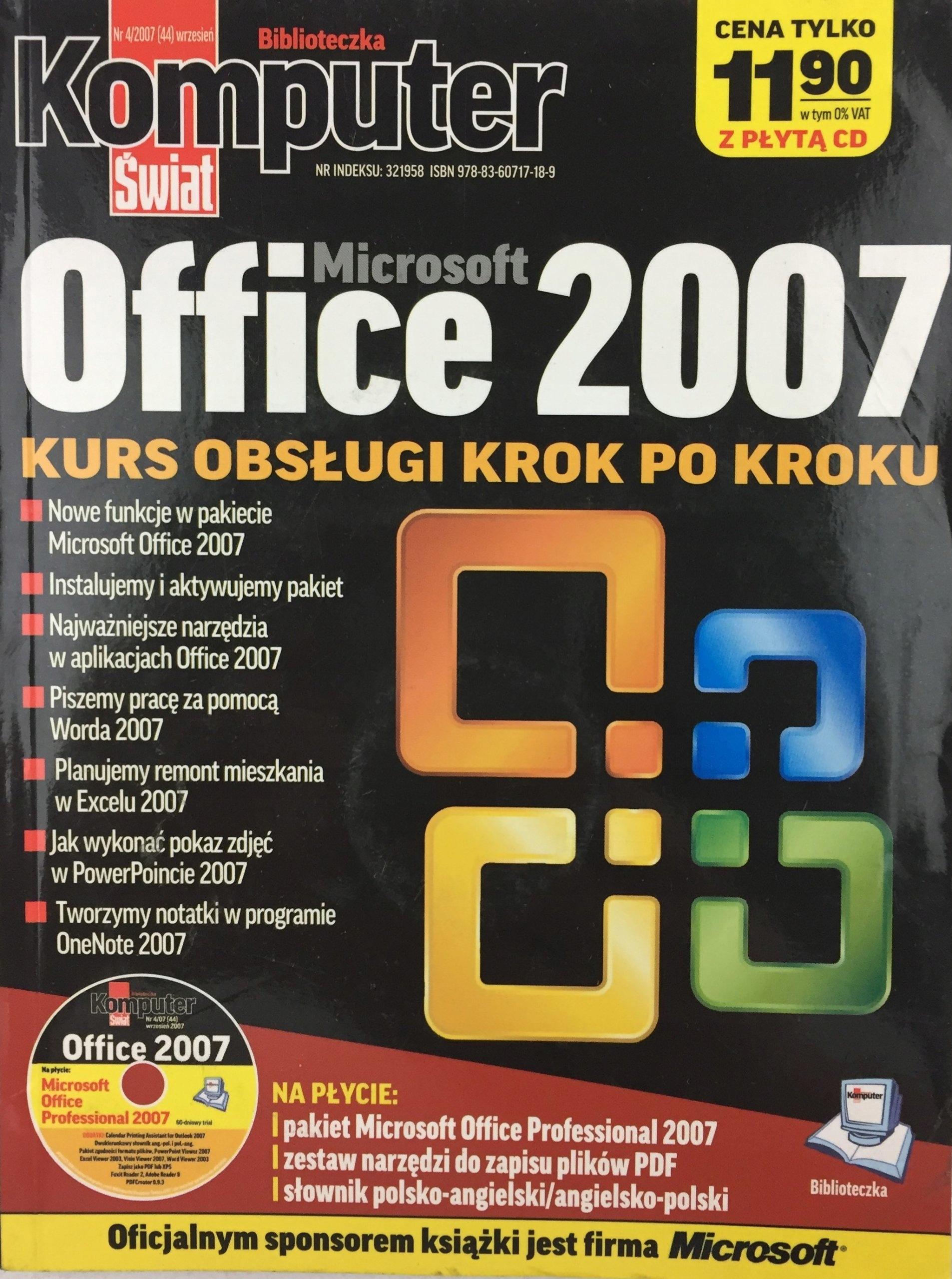 Microsoft Office 2007 kurs Komputer Świat z CD NEW