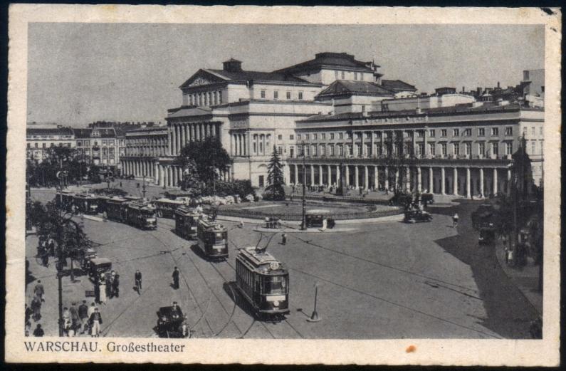 Warszawa Teatr Wielki przedwojenna pocztówka